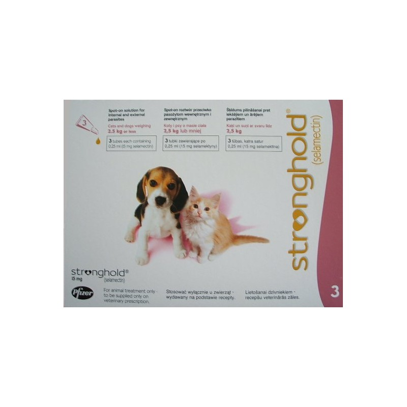 Stronghold - Puppy/Kitten - 15mg x 3 Pipettes