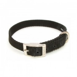 "Canac Dog Collar Black Nylon 3/8"" (Fits 10""-12"")"