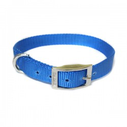 "Canac Dog Collar Blue Nylon 3/8"" (Fits 10""-12"")"