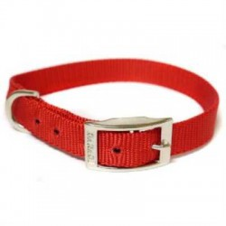 "Canac Dog Collar Red Nylon 5/8"" (Fits 14""-16"")"