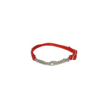 "Canac Combi Dog Collar Red 3/4"" (Fits 16""-24"")"