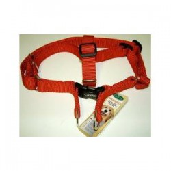 "Canac Dog Harness Red Nylon - 3/8"" Wide"