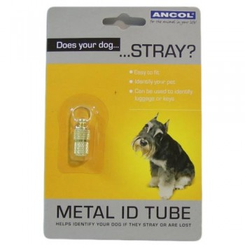 Dog Identity Tube - Gilt