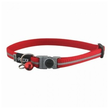 Rogz Alley Cat Collar - Red 11mm