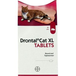 Drontal XL Cat worming tablet - each - 1 required per 6kg