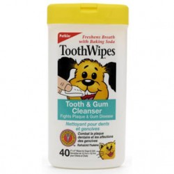 Petkin Tooth Wipes - Pack of 40