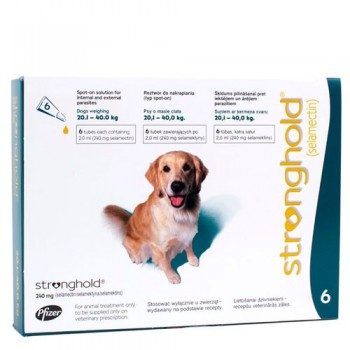 Stronghold - Large Dog - 240mg x 6 Pipettes