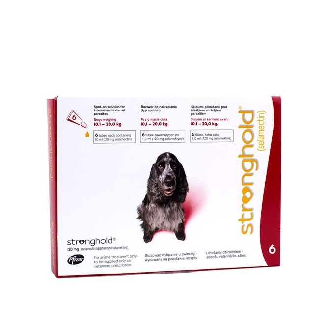 Stronghold - Medium Dog - 120mg x 6 Pipettes