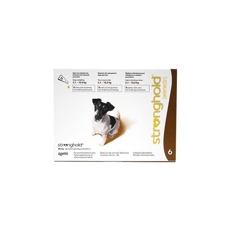 Stronghold For Fleas Small Dog 60mg X 6 Stronghold