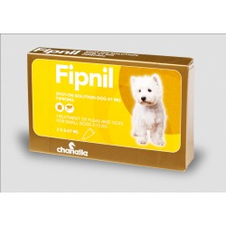Fipnil Spot on Flea & Tick - Small Dogs less than 10kg - 3 Pipettes