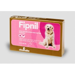 Fipnil Spot on Flea & Tick - Large Dogs 20kg - 40kg - 3 Pipettes