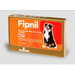 Fipnil Spot on Flea & Tick - XL Dogs 40kg x 60kg - 3 Pipettes