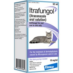 Itrafungol Oral Solution for Cats 52ml + syringe