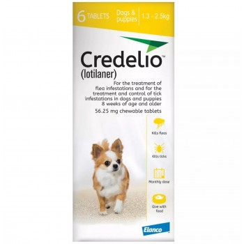 56.25mg Credelio Tablets for Dogs - Pack of 6