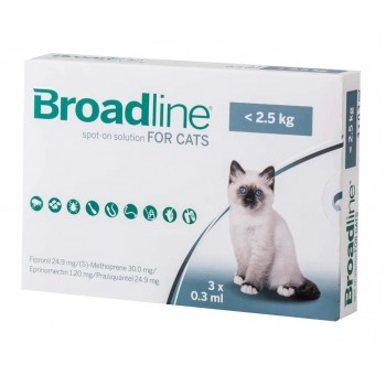 3 x Broadline Spot-on for Small Cats