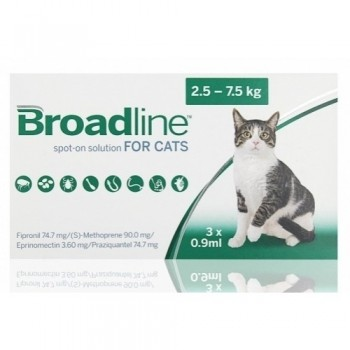3 x Broadline Spot-on for Large Cats
