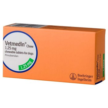 100 x Vetmedin 1.25mg Flavour Tablet - Pack of 100