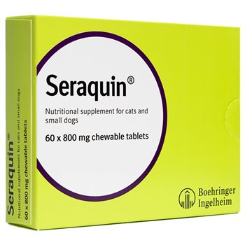 Seraquin for Cats & Small Dogs with Chondroitin pack of 60 x 800mg tablets