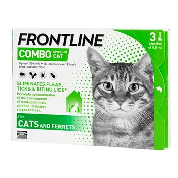 Frontline Combo Spot On x 3 Pipettes for Cats