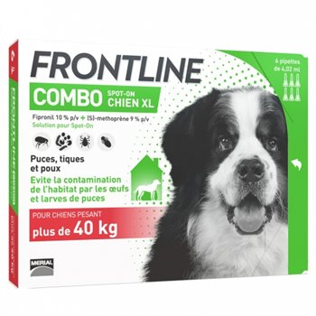 Frontline Combo Spot On x 3 Pipettes for XL Dogs 40-60kg