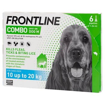 Frontline Combo Spot On x 6 Pipettes for Med Dogs 10-20kg