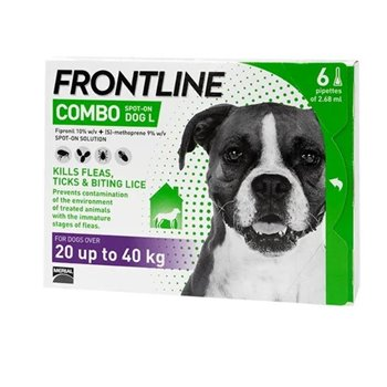 Frontline Combo Spot On x 6 Pipettes for Large Dogs 20-40kg