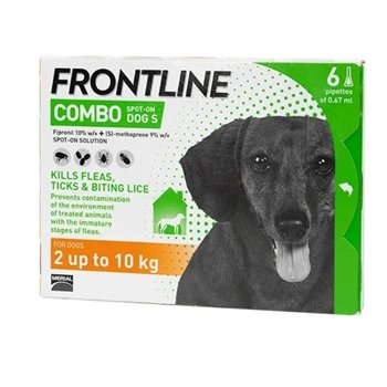 Frontline Combo Spot On x 6 Pipettes for Sml Dogs up to 2kg