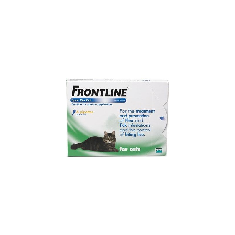 Frontline Flea Spot On for Cats - 6 pipettes of 0.5 ml