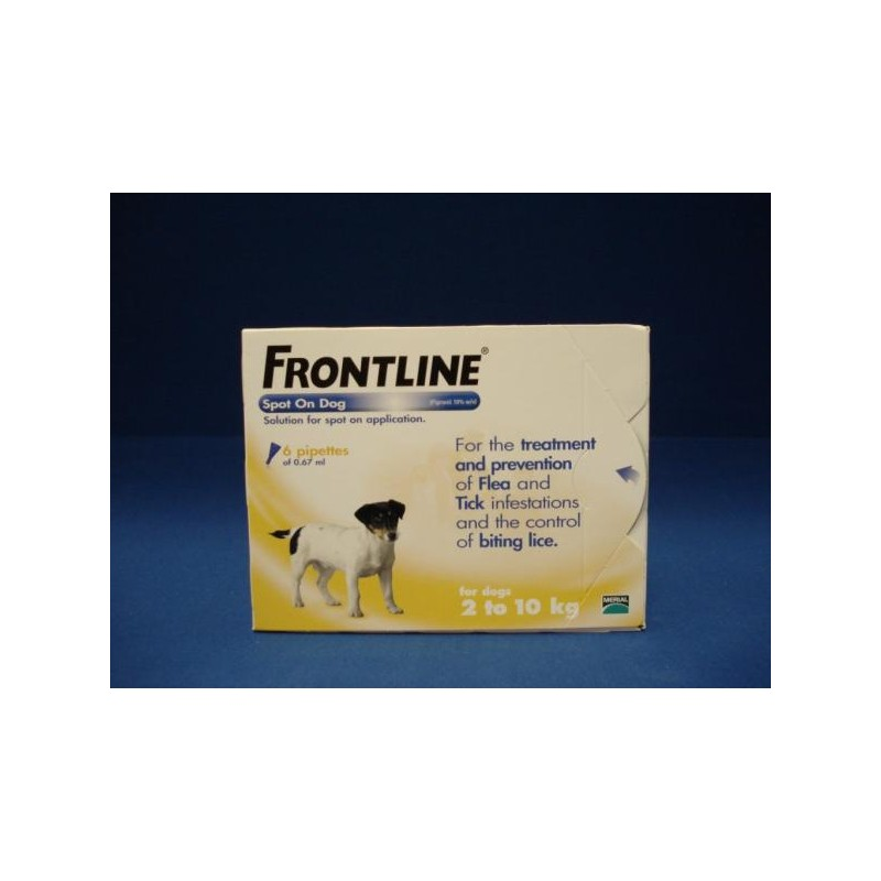 Frontline Flea Spot On for Dogs 6 pipettes of 0.67 ml - Small Dog 2-10KG