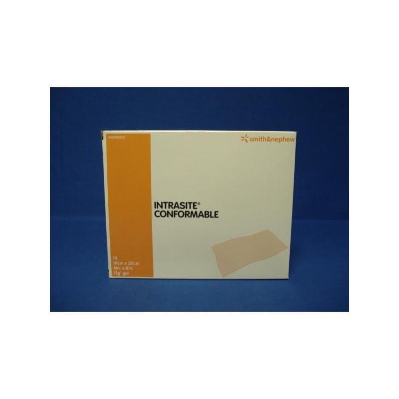 IntraSite Conformable 10 x 10 Hydrogel Dressing for Wounds - Pack of 10