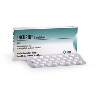 Incurin Tablets - Buy 1mg Incurin for Dogs at VetDispense, UK Pet Meds